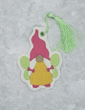 Fairy Gnome Bookmark Embroidery Design